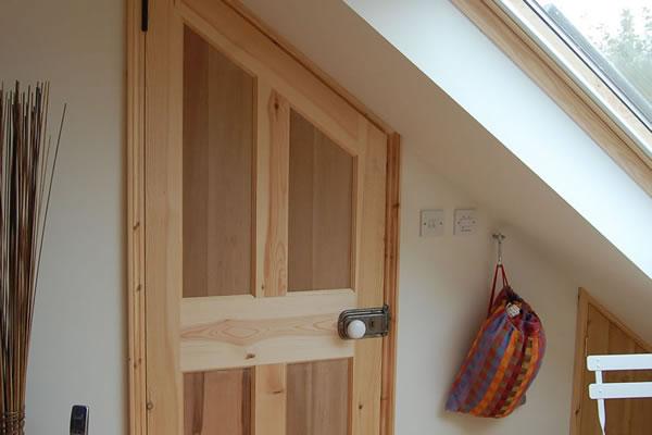 ... Internal door angled to match sloping ceiling & Previous work - Edgar Farrell Construction Cambridge